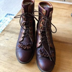 Justin leather boots